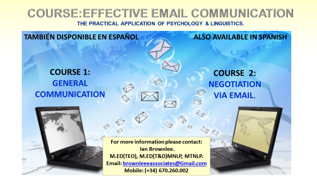 Course: Effective Email Communication: The practical application of Psychology and Linguistics